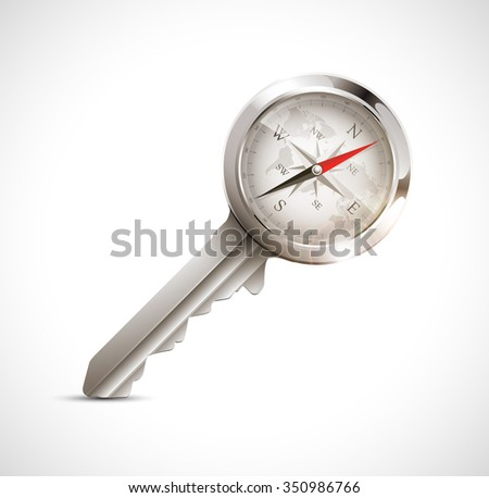 Strategy key concept - right direction - stock vector