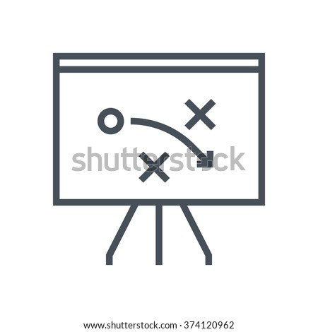 Strategy, tactics icon suitable for info graphics, websites and print media and  interfaces. Line vector icon. - stock vector