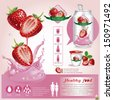 Strawberriy juice infographics.vector illustration - stock vector