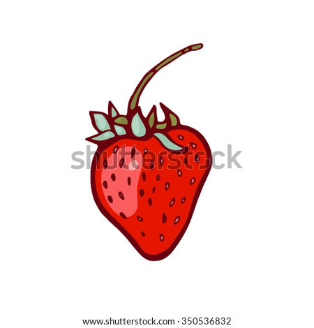 Strawberry isolated on white background. Berry. Fruit. - stock vector