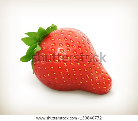 Strawberry vector - stock vector