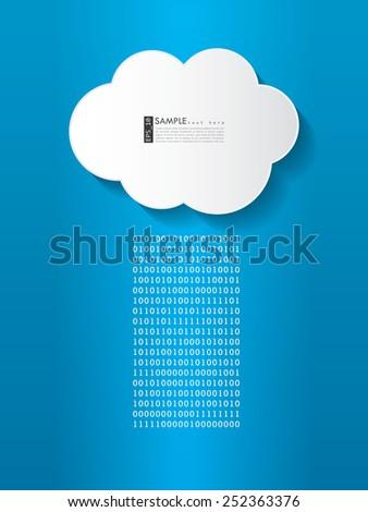 Streaming data - cloud illustration - stock vector