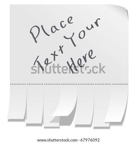Street advertisement with tear-off stripes of paper with copy space. - stock vector