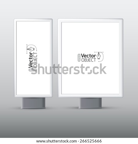 street banner, booth - stock vector
