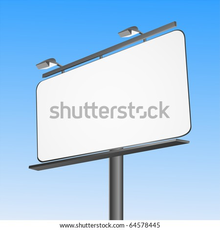 Street Big Advertising Billboard panel on a clear day. vector - stock vector