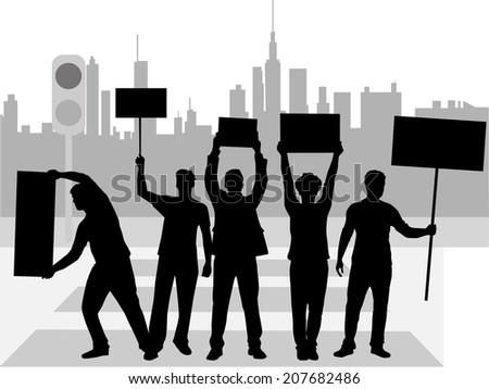 Street Demonstration - stock vector