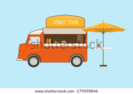 Street Food Truck - stock vector