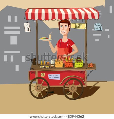 Full Grocery Cart Clipart Food Cart Stock Images...