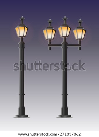 Street Lights. Vector - stock vector