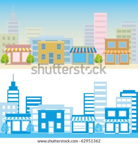 Street scene. Illustration vector. - stock vector