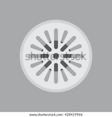 Street sewer in a flat design, editable vector - stock vector