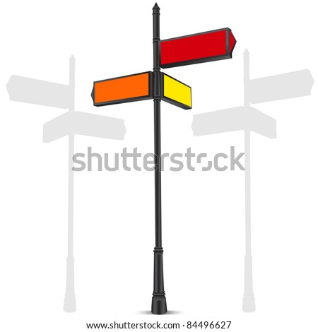 street sign - stock vector