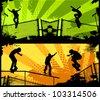Street skates - stock vector