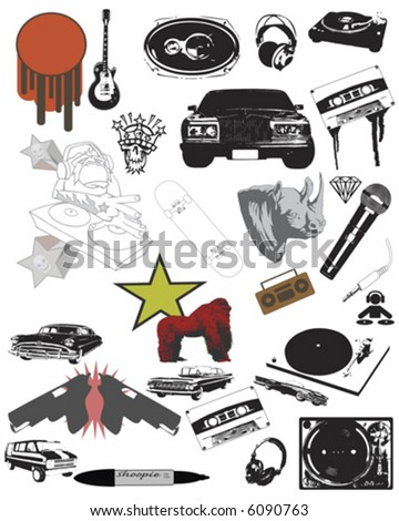 Street Style designs and ornaments - stock vector