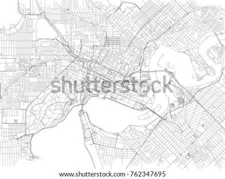 streets perth city map australia street stock vector 2018 762347695 shutterstock