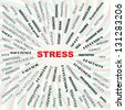stress contributary factors, causes, symptoms, effects, conceptual illustration.  - stock photo