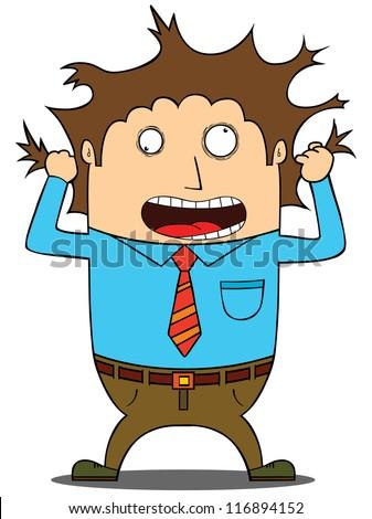 Stress  man - stock vector