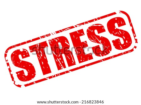 Stress red stamp text on white - stock vector