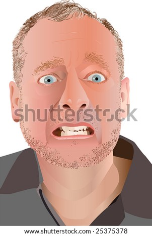 Stressed Out Vector Illustration - stock vector