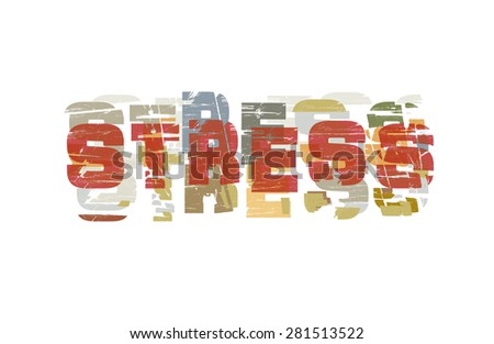 stressed the symbolism of the people - the inscription junk style - stock vector