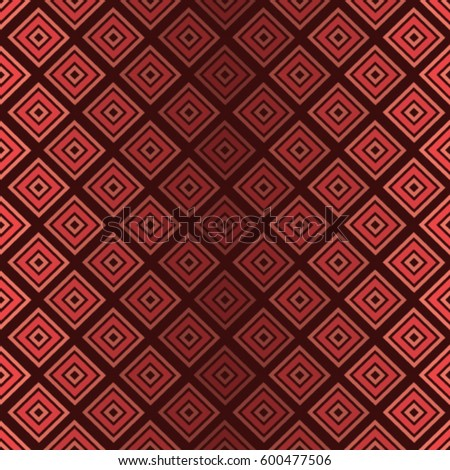Strict geometric seamless pattern. Red pink background for textile design