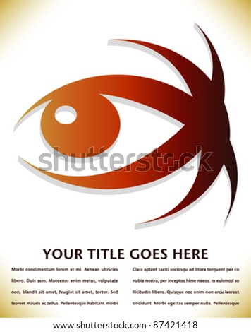 Striking 3D eye design with copy space. - stock vector