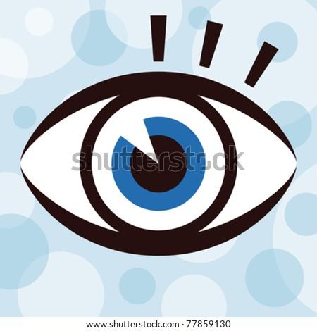 Striking eye design. - stock vector