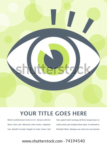 Striking eye design with space for text. - stock vector