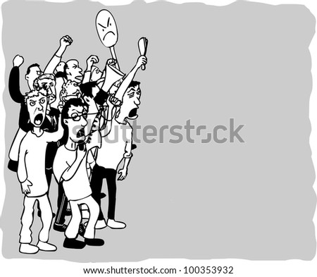 Striking People - stock vector