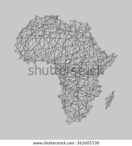 String Art Nail And Yarn Design Africa Map