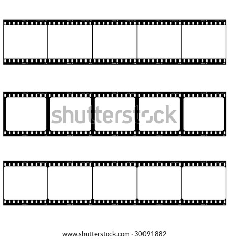 Strip of three reels with room to add your own image - stock vector