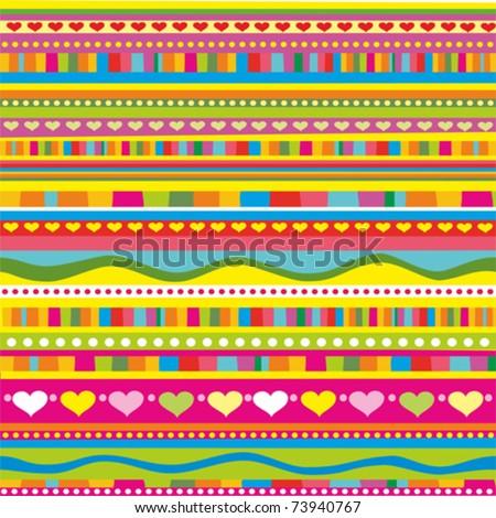 strip pattern. vector background - stock vector