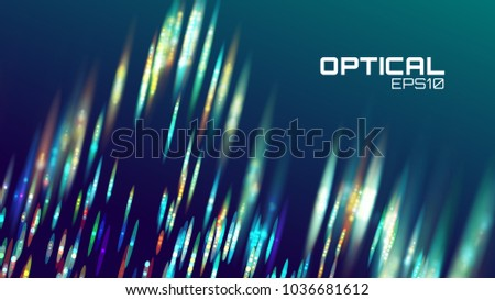 Stripe abstract background. Lens bokeh neon motion. Digital wave effect