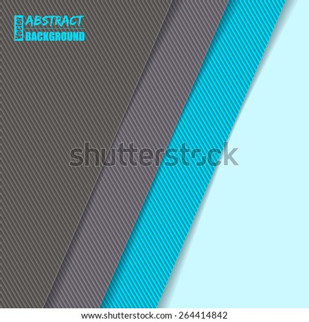 Striped background design with gray and blue - stock vector