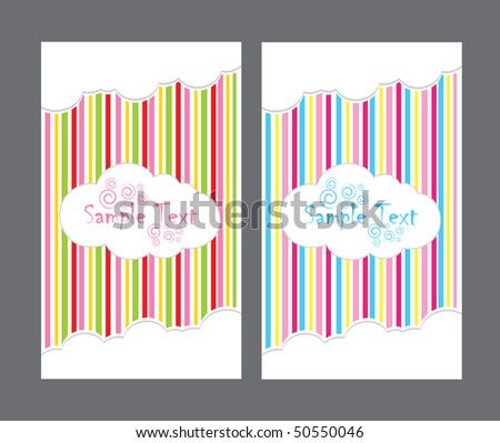 Striped background with clouds