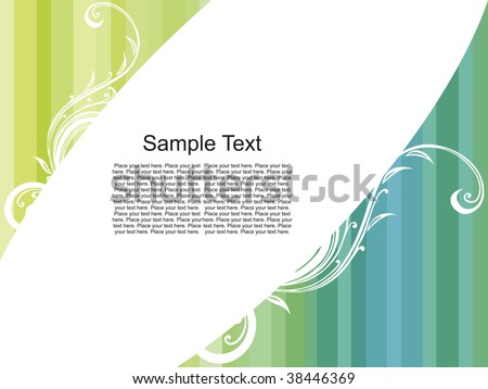 striped background with  place for sample text