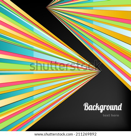 Striped background with place for text - stock vector