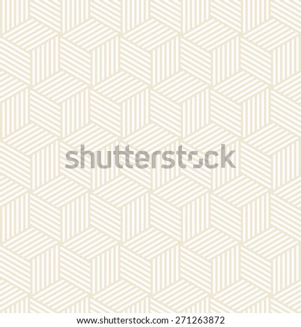 striped bright colored cube pattern. seamless vector background. each detail in separate layer. - stock vector