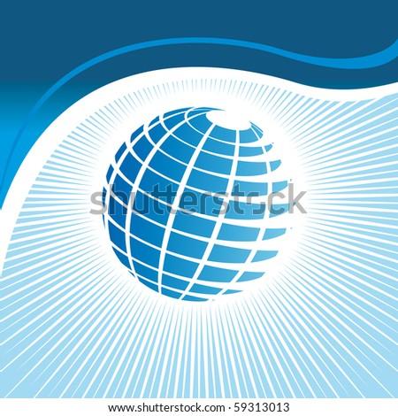 striped Globe - stock vector