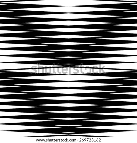 Striped pattern of triangle seamless vector background. - stock vector