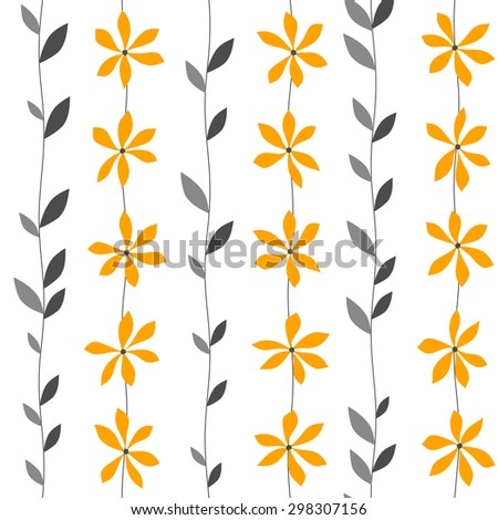 striped seamless floral pattern