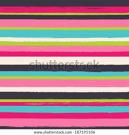 Striped seamless vector pattern. Can be used for textile, wallpaper, wrapping paper. - stock vector