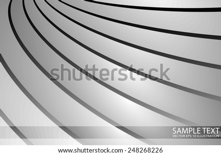 Striped silver design background vector illustration - Abstract metal  template modern design illustration - stock vector