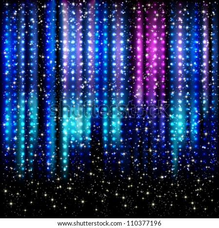 Striped spotlights vector background. - stock vector