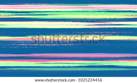 Stripes with Watercolor Grunge Brush Style Effect. Grungy Seamless Lines Pattern Design. Dyed Stripes in Watercolor Style. Cloth, Linen, Textile Print Design Pattern.