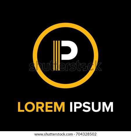 Strips Letter P Logo P Letter Stock Vector 2018 704328502
