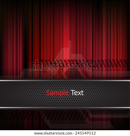 Strips red background vector - stock vector