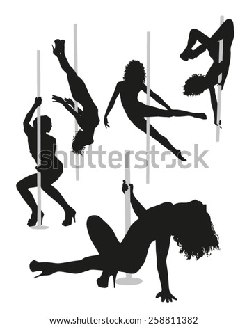 Striptease silhouettes