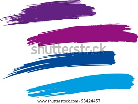 Strokes of a paint brush. Vector. - stock vector
