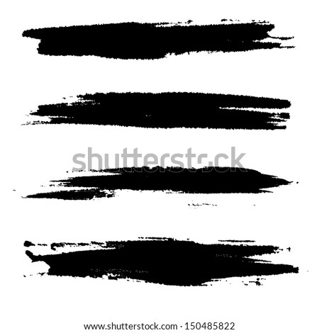 strokes of paint - stock vector